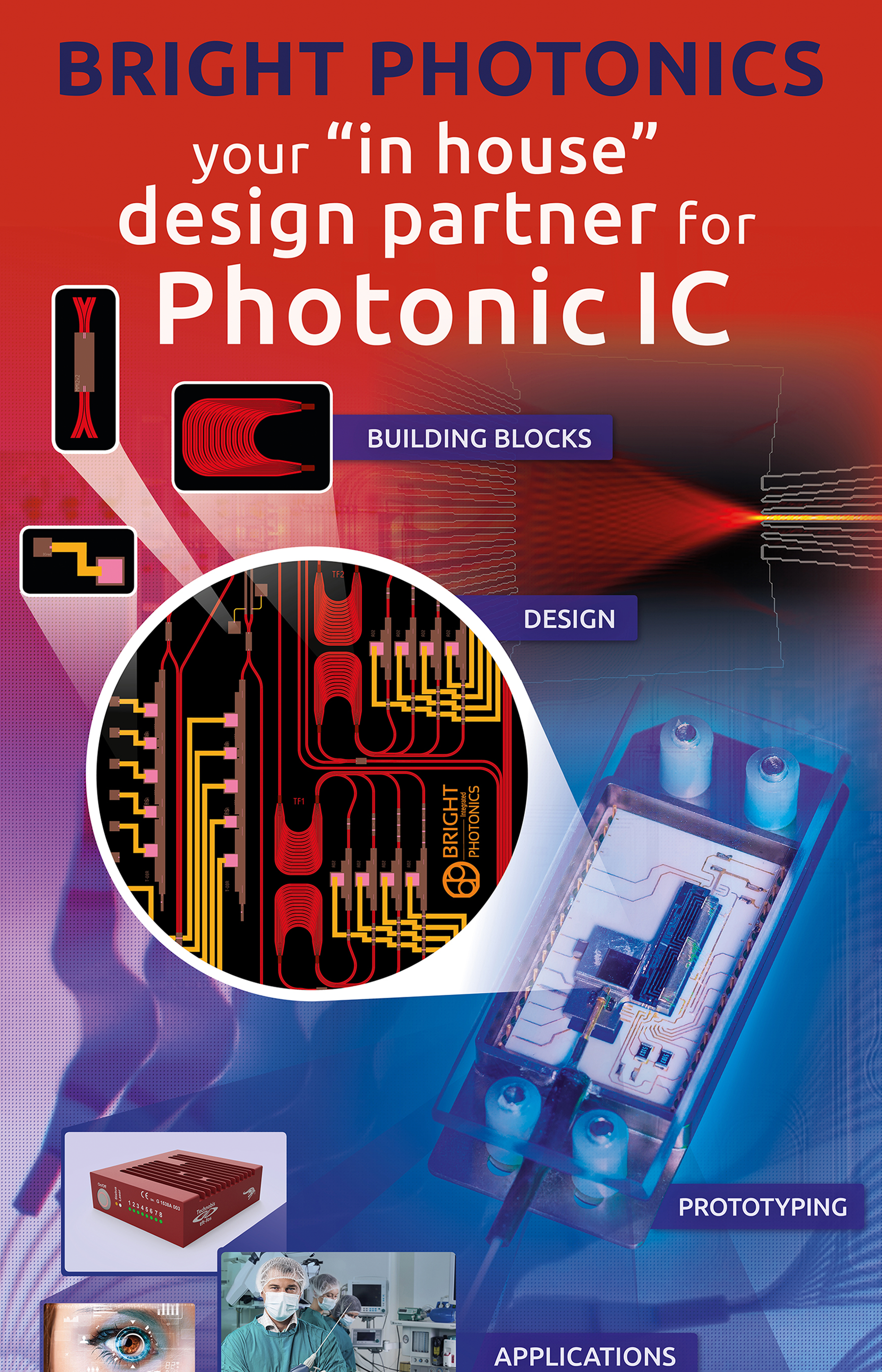 roll-up banner voor Bright Photonics