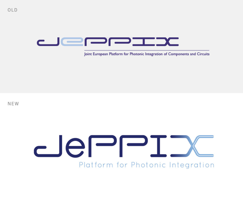 example of the old and new JePPIX logo
