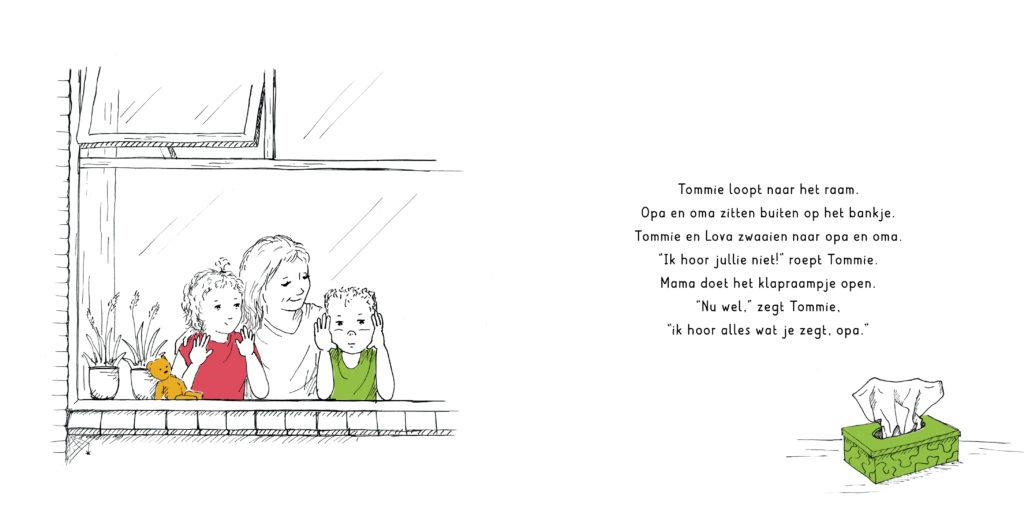 Tommie-en-Lova_het-corona-bezoek_met-mam-voor-het-raam